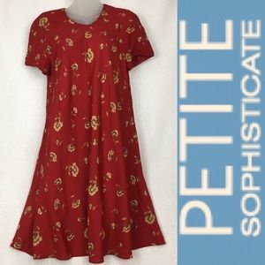 Petite Sophisticate Red Tent Dress Fresh Fashion